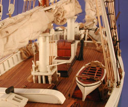 [Deck view of Mystic ship model]